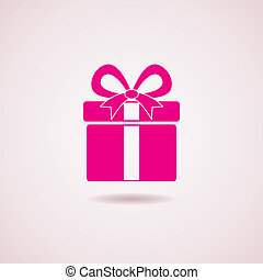doosje, pictogram, vector, cadeau