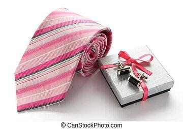 doosje, vastknopen, manchet, cadeau, veld voor golfspel