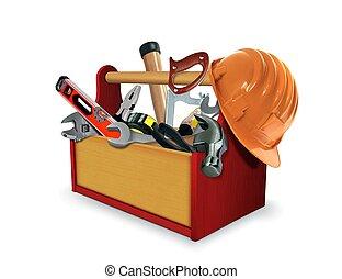 doosje, werktuig, gereedschap
