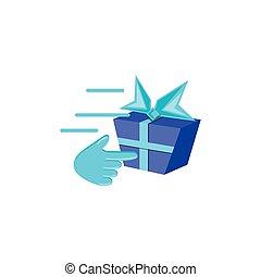 doosje, wijzer, kado, cadeau, hand