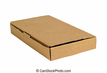 doosje, witte , achtergrond., karton, vrijstaand