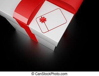 doosje, witte , cadeau, 3d