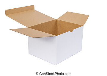 doosje, witte , papier, achtergrond