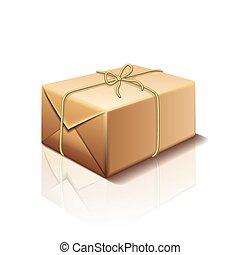 doosje, witte , vector, pakket, vrijstaand