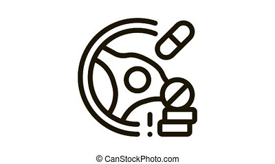 dope driving Icon Animation. black dope driving animated icon on white background