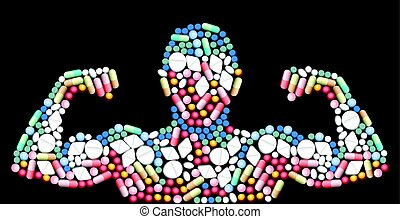 Doping Anabolic Drugs Muscle Pills - Sports doping, anabolic...