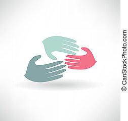 dopomagając rękom
