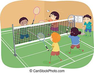 doppel, badminton