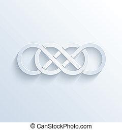 doppio, infinità, segno, con, uggia