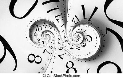doppio, infinità, spirale, tempo