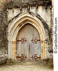 doppio, medievale, porte, arched