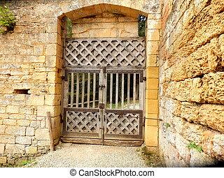 doppio, medievale, porte