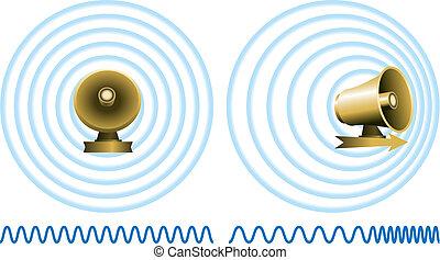 Doppler Effect - Illustration of the Doppler effect or...