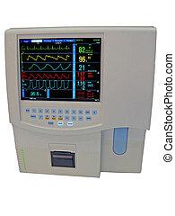 doppler, farbe, freigestellt, digitalanzeige, kardiovaskulär