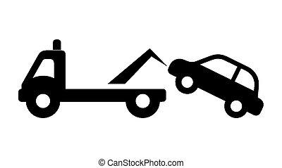 dopravní značka, -, ne parkovat, vlečení, pryč