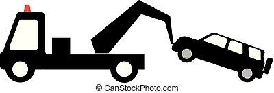 dopravní značka, -, ne parkovat, vlečení, pryč, oblast,...