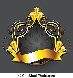 doré, écusson, royal