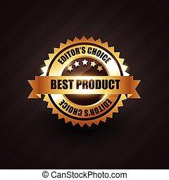 doré, étiquette produit, vecteur, conception, écusson, mieux