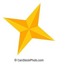 doré, étoile, coloré, point, 4, dessin animé