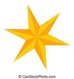 doré, étoile, coloré, point, 6, dessin animé