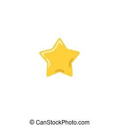 doré, étoile, illustration, vecteur, jaune, icône