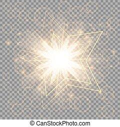 doré, étoile, noël