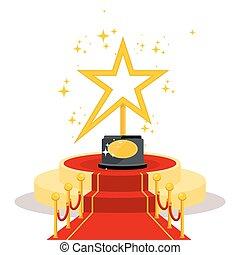 doré, étoile, récompense