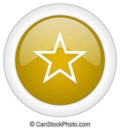 doré, étoile, toile, mobile, app, illustration, bouton, conception, lustré, icône, rond