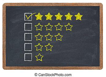 doré, étoiles, classement