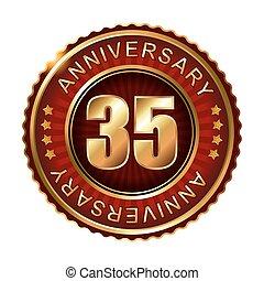 doré, 35, anniversaire, label., années