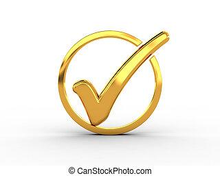 doré, anneau, marque contrôle