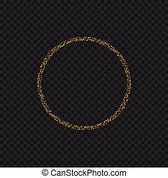 doré, anneau, scintillements