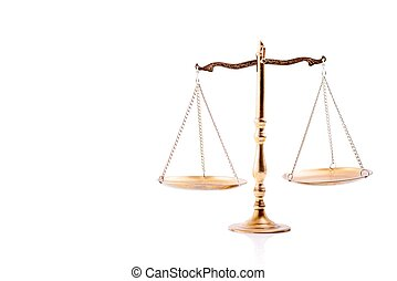 doré, balances, de, justice.