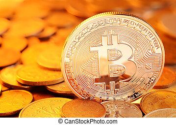 doré, bitcoin, échange