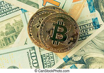 doré, bitcoin., bitcoin, cryptocurrency.