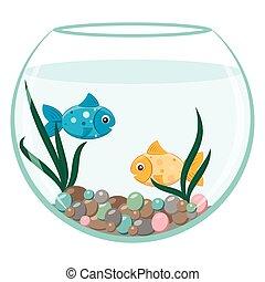 Dor fish aquarium dessin anim dor fish for Prix aquarium rond