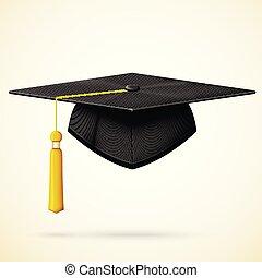doré, bob, casquette, remise de diplomes, réaliste