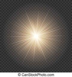 doré, brillant, étoile