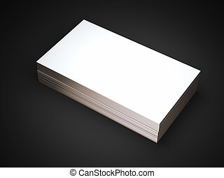 doré, business, bords, cartes, blanc, pile
