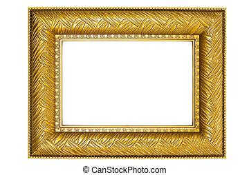 doré, cadre, ornements, image