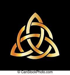 doré, celtique, point, cross-3, triquetra, noeud, trinité