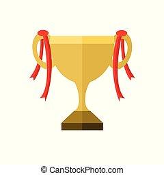 doré, championnat, trophée, illustration