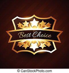 doré, choix, conception, étoiles, étiquette, mieux