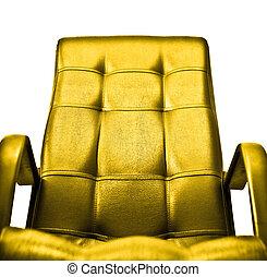 doré, concept, fauteuil
