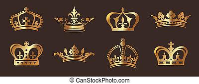 doré, couronnes