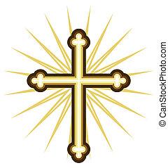 doré, croix