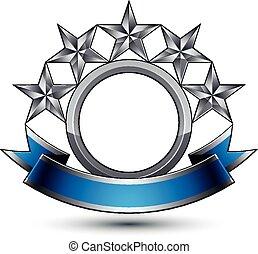 doré, curvy, symbole, géométrique