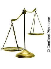 doré, déséquilibre, balances