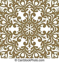 doré, designer., décoratif, style., modèle, ornement, valise, élément, traditionnel, victorien, vecteur, orné, floral, baroque, design., salutation, decor., cartes.