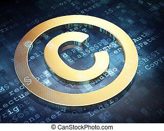 doré, droit d'auteur, fond, numérique, droit & loi, concept: